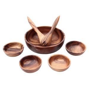 不二貿易(Fujiboeki) 中鉢 ブラウン ボウル大/幅25.5×奥行25.5×高さ7.5cm、...