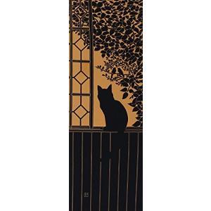 染の安坊 本染め手ぬぐい 2階の猫 橙 100cm×35cm shimizusyouten01