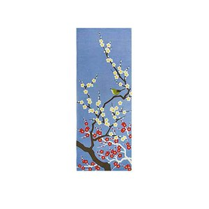 「さらさ」 季節彩る 四季彩布 手拭い 日本製 sy-59 (2月 梅と鶯) shimizusyouten01
