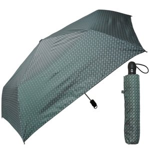 アイリスプラザ 折りたたみ傘(自動開閉) カーキ 55cm 軽量スリム 自動開閉 ドビーチェック O...