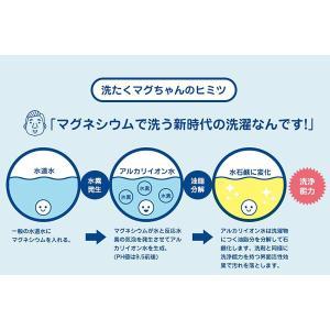 洗濯用品 洗たくマグちゃん ブルー ピンク 2個セット 洗濯ネット付き マグネシウム粒 部屋干し に...