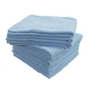 《まとめ買い10枚組》綿100%スポーツタオル ブルー 40×95cm|shimizusyouten01