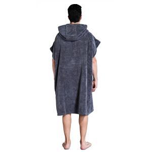 Winthome お着替えポンチョ 速乾吸水 サーフィンポンチョ お着替えタオル フード付き 防寒 男女兼用 フリーサイズ 4カラー (グレ|shimizusyouten01