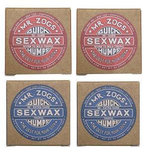 4個セットSEX WAX セックスワックス サーフワックス/サーフボードワックス サーフボード滑り止め WARM(初夏用)2個&TROPIC|shimizusyouten01