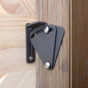 HomeDeco Hardware 引き戸用 鍵 錠前 ロック ブラック|shimizusyouten01