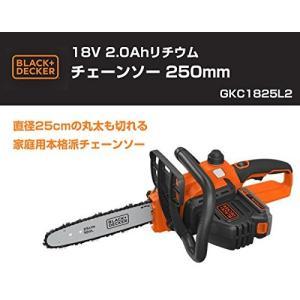 ブラックアンドデッカー(BLACK+DECKER) コードレスチェーンソー 18V 2.0Ah 250mm GKC1825L2|shimizusyouten01
