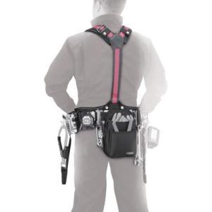 タジマ 安全帯 サスペンダーリミテッド M ライン赤 胴当てCRXセット YPLMCRX-LRE 落下防止 電気工事 高所での安全作業|shimizusyouten01
