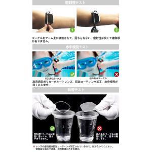 FEIUPE スイムゴーグル 耳栓 鼻栓 3点セット 防水 防曇 UVカット メッキ 大枠 度付き選択可 (ブラック, -4.0)|shimizusyouten01