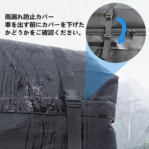 Rabbitgoo ルーフキャリアバッグ 防水カーゴバッグ 425L超大容量収納 超防水2層PVC/600D高密度 防雨ジッパーカバー 8本|shimizusyouten01