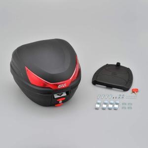 GIVI(ジビ)イタリアブランド モノロックケース(トップケース/リアボックス) 未塗装ブラック 容...