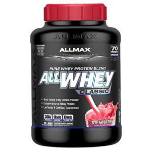 オールホエイクラシック 100%ホエイプロテイン ストロベリー 2.27kg (ALLWHEY Classic - Strawberry 5|shimizusyouten01
