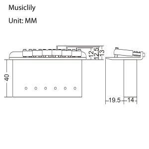 Musiclily Pro 54mm ストラト用トレモロブリッジアッセンブリー、クロム|shimizusyouten01