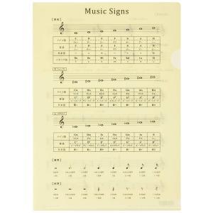 オリジナルクリアファイル 音楽記号ファイル(改訂版) PRSP-4|shimizusyouten01