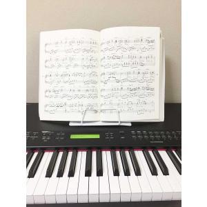 かわいい折りたたみ卓上の譜面台 白 書見台としても|shimizusyouten01