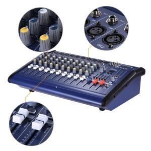 ammoon パワード ミキサー 10チャンネル デジタルオーディオ ミキシング コンソール アンプ USB SDスロット付き レコーディン|shimizusyouten01