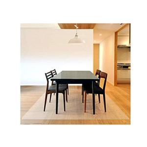 床を保護するダイニングマット クリア フローリングや畳のキズ防止に 食べこぼし キッチン 透明 PV...