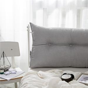 Vercart 新発売 洗えるカバー ベッド 背もたれ ヘッドボード クッション フワフワ 腰痛対策 シルバーグレー60x20x50cm|shimizusyouten01