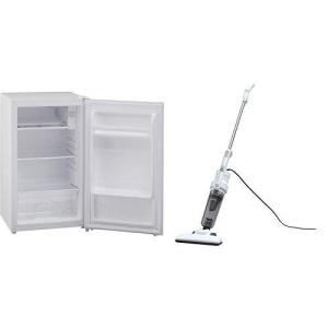 セット販売アイリスオーヤマ 冷蔵庫 75L 1ドア 右開き ホワイト AF75-W AF75-W &...