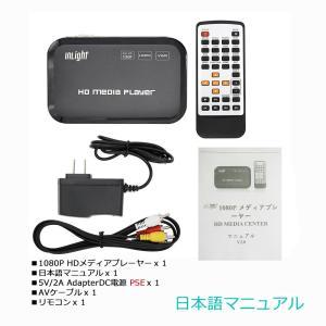 InLight HD801メディアプレーヤー HDMI/VGA出力USB/OTG/SD/AV/TV/...