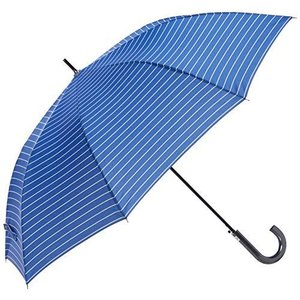 ムーンバット GENTS エクセルジェンツ メンズ 紳士 雨傘 長傘 ボーダー プリント ジャンプ スカイブルー 日本 親骨の長さ:約65?|shimizusyouten01
