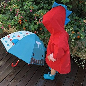 レインコート キッズ 可愛い 子供 レインウェア キッズ 雨カバー 恐竜柄 ポンチョ 防水 防風 透明バイザー付き ポケット付き 携帯バッグ