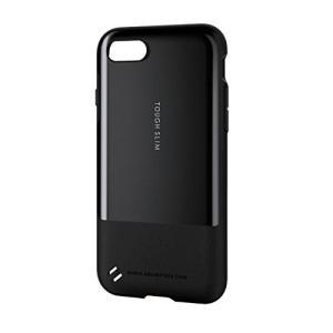 エレコム iPhone8 ケース カバー 衝撃吸収  TOUGH SLIM 衝撃吸収 フィルム付 iPhone7 対応 ブラック PM-A17MTSBK shimoyana