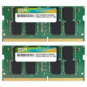 シリコンパワー ノートPC用メモリDDR4-2400(PC4-19200) 16GB×2枚 260P...
