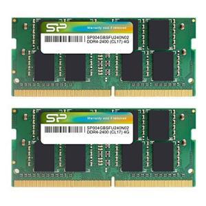 シリコンパワー ノートPC用メモリ DDR4-2400(PC4-19200) 4GB×2枚 260P...
