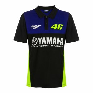 ヤマハ(YAMAHA) ポロシャツ VR46 ヴァレンティーノ ロッシ 46&ヤマハファクトリーレー...