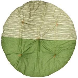 高岡 せんべい座布団 直径100cm ツートンカラー あられ緑×翁苔