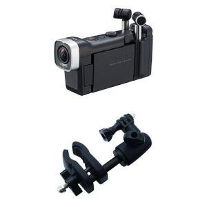 ZOOM ハンディビデオカメラレコーダー Q4n マイクスタンドマウントセット