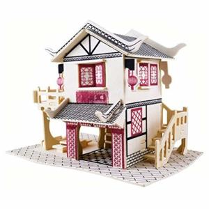 Shanado 木製 おもちゃ ハムスター ハウス 家小屋2階建て DIY ドールハウス 遊具 キッ...