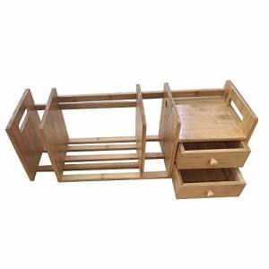 本立て 卓上本棚 デスク上 収納 木製 小物入れ 仕切り デスク上置き棚 伸縮 組立 ブックスタンド デスクオー shimoyana
