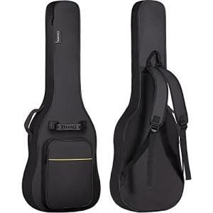CAHAYA エレキギターケース 簡単版 軽量 ギター ソフト バッグ 8mmスポンジ 肩掛け 手提げ 大容量ポケット 持ち|shimoyana