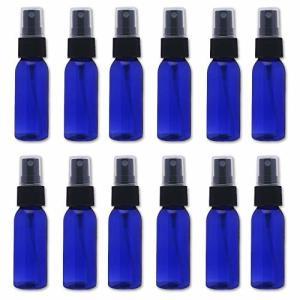 スプレーボトル 12本セット 詰替ボトル 遮光 空容器 霧吹き(30ml ブルー)|shimoyana