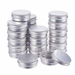 BENECREAT 30個セット30mlアルミ缶 アルミネジキャップ缶 小分け容器 詰め替え容器 クリームケース 化粧品 クリー|shimoyana