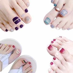 ネイルステッカー 足の爪 貼るだけマニキュア ネイルアート ネイルラップ ネイルアクセサリー女性 レディー shimoyana