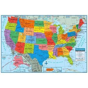 Superior Mapping Company 合衆国ポスターサイズウォールマップ 40 x 28インチ 都市記載 1 Map shimoyana