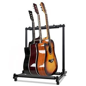ギタースタンド (3本収納) ベース ギター スタンド ベーススタンド ギターすたんど 安定耐久(アコギ/ウクレレ/|shimoyana