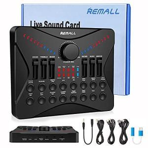 V8 Sound Card REMALL Sound Card V8サウンドカード ボイスチェンジャー bluetooth ミキサー 12の効果音 4種類音声変更 女声|shimoyana