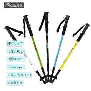 クライミング用品 トレッキングポール ウォーキングポール ステッキ 登山杖 3段伸縮機能 ストック スティック 杖 折り畳み アウトドア 超軽量|shin-8