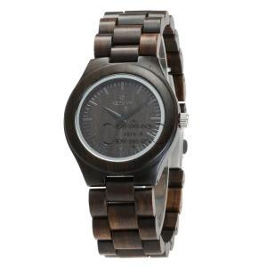 腕時計 木製 木 黒檀 メンズ レディース クォーツ ペアルック カップル 天然木 クォーツ時計 木の温もり お安い おしゃれ かっこいい 人気急上昇|shin-8