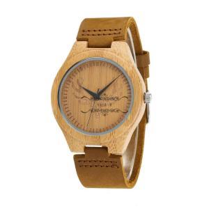 腕時計 竹製 木 メンズ 竹 天然 レザー クォーツ カップル 天然木 クォーツ時計 木の温もり 新作 シンプル 上品 ファション おしゃれ 大人気|shin-8