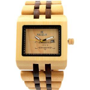 クォーツ時計 黒檀  メンズ 楓紅葉 天然木 竹製 木製時計 自然に優しい 木 オシャレ シンプル 通勤 大人気 職場 竹製腕時計|shin-8