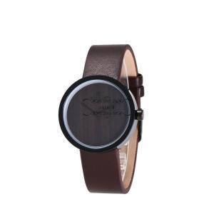 レディース アクセサリー 腕時計 木製 レザーバンド 天然木 自然に優しい シンプル きれいめ 通勤 大人 オシャレ 職場 大人気 いい香り|shin-8