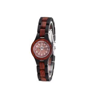 腕時計 レディース 木製 赤檀 黒檀 自然に優しい 品質 上品 きれいめ 大人気 通勤 お仕事 普段着 シンプル かわいい オシャレ 木の香り いい香り|shin-8