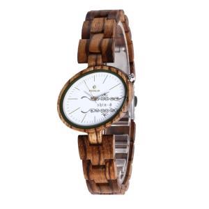 レディース 腕時計 レザーバンド 木製 シマウマ 楓紅葉 クルミ 黒檀 赤檀 上品 オシャレ 自然に優しい シンプル きれいめ 木の温もり|shin-8