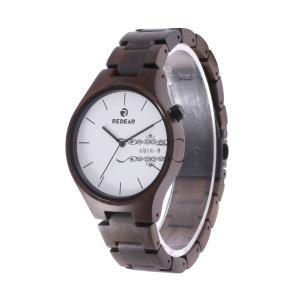 メンズ 腕時計 木製 木製腕時計 クォーツ時計 黒檀 楓紅葉 木の温もり 木の香り シンプル 上品 天然木 お祝い プレゼント 普段着 職場 ファション|shin-8