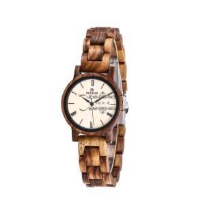 レディース 木製腕時計 木製 シマウマ 天然木 自然に優しい 上品 腕時計 通勤 シンプル 職場 お出かけ 木の香り オシャレ 木の温もり|shin-8