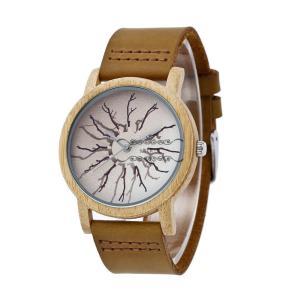 腕時計 レザーバンド メンズ 竹製 天然木 自然に優しい レディース カップル ペア 木の香り 木の温もり オシャレ シンプル プレゼント 品質|shin-8